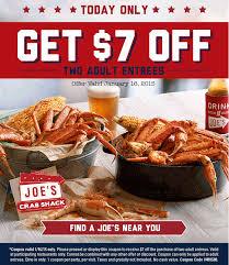 coupons for joe s crab shack pinned january 16th 7 a entrees today at joes crab