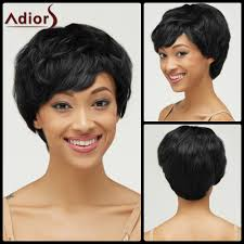 fluffy curly pixie cut synthetic short haircut capless wig in