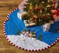 let it snow bucilla felt christmas tree skirt kit by mary engelbreit