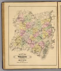 Maine County Map Waldo Co Maine David Rumsey Historical Map Collection