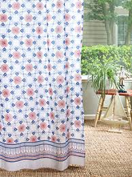 Orange And Blue Shower Curtain Bohemian Curtains Moroccan Curtains India Curtains Exotic