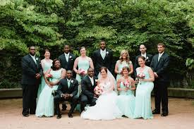wedding party attire mint dresses and navy suits wedding party attire