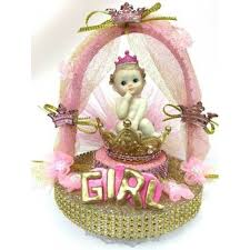 crown centerpieces baby shower princess in crown centerpiece or cake topper