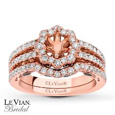 levian wedding rings jared le vian bridal setting 1 ct tw diamonds 14k strawberry gold