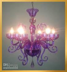 Purple Pendant Light Shade Discount 6 Light Blown Murano Glass Purple Violet Chandelier