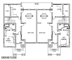 ground floor plan 4 bedroom semi detached duplex ground floor plan duplex