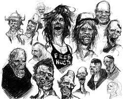 zombie sketch dump by landuo on deviantart