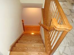 Oak Banisters Mitre Contracting Inc Railings