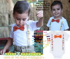 thanksgiving for baby boy gobble suspenders with bow tie