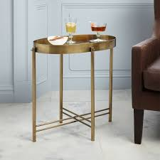 Brass Side Table Brass Tray Side Table West Elm
