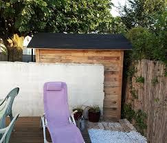 Black Pallet Patio Furniture Pallet Garden Shed Or Cabin