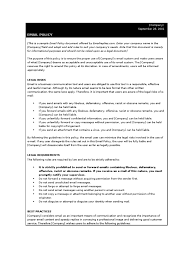 company email policy corporate email free project status report