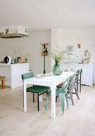 cuisine pastel couleur clair dans une cuisine ouverte déco pastel