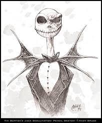jack skellington sketch by andybrase on deviantart