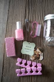 wedding shower party favors bridal shower party favor pedicures in a jar kelsey