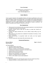 Follow Up Resume Sue K Resume Front Of House 2015