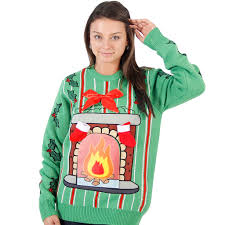 s led fireplace sweater
