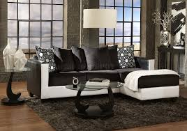 Black And White Sectional Sofa 3001 Sectional Sofa In Black White