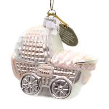 oberfrankische glas baby buggy glass ornament sbkgifts
