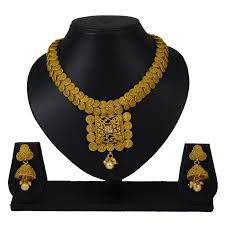 jhumka earring buy pourni traditional necklace set with jhumka earring for bridal