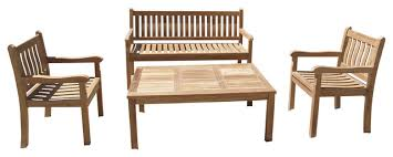 Grade A Teak Patio Furniture by Windsor 4 Piece Bench Chairs And Table Set Grade A Teak