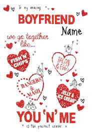 valentines day cards for him we go together boyfriend s day card funky pigeon