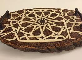 decorative tray mamluk art syrian art medieval islamic art