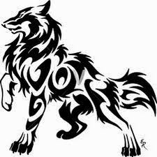 image result for tribal wolf artsy craftsy tribal wolf