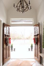 christmas entry decor organize clean decorate