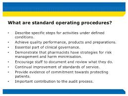 Pharmacy Standard Operating Procedures Template improving safety and quality by integrating paper based and electroni