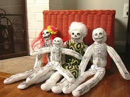 how to make a halloween sock skeleton hgtv