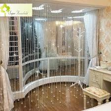 european decorative crystal curtains in the kitchen divider
