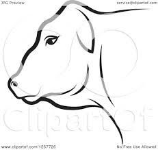 clipart of a black and white cow royalty free vector