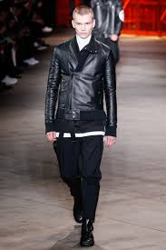 motocross leather jacket diesel black gold spring 2015 menswear collection vogue