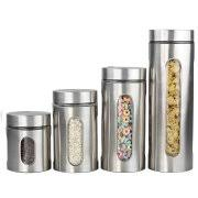 kitchen canisters stainless steel kitchen canister sets