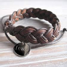 leather bracelet man images Personalised mens pleated leather bracelet i just love it jpg