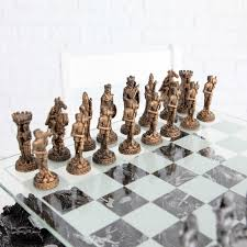 3d knight pewter chess set hayneedle