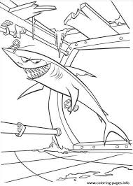 shark boat finding nemo coloring pages printable