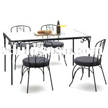 wrought iron dining table set beautiful wrought iron kitchen table sets boldventure info