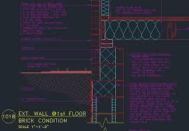 wall section basement 2nd floor cmu footing wood wall w