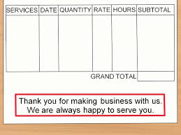 Invoice For Services Rendered Template by How To Make An Invoice With Sample Invoices Wikihow