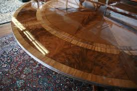 round mahogany dining table with leaves antique reproduction