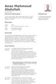 Resume Samples For Mechanical Engineers by Technical Support Engineer Resume Samples Visualcv Resume