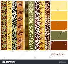 Earth Tone Pictures by African Style Earth Tone Patterns Complimentary Stock Vector