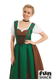 ladies traditional bavarian costume for oktoberfest german