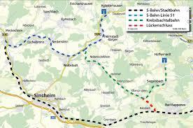 Sinsheim Bad Querspange Zur Bahnlinie Zwischen Sinsheim Und Heilbronn Auf Dem