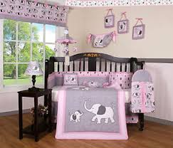 Geenny Crib Bedding 15pcs Elephant Geenny Crib Bedding Set Including Mobile And L