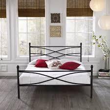 premier pia metal platform bed frame queen with bonus base wooden