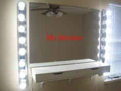 Diy Vanity Lights Ikea Malm Vanity Mirror Lights And Stool Also From Ikea My