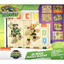 teenage mutant ninja turtles half shell heroes wood puzzle blocks